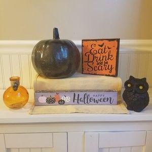 Other - Halloween Fall Decor 5 Piece Set
